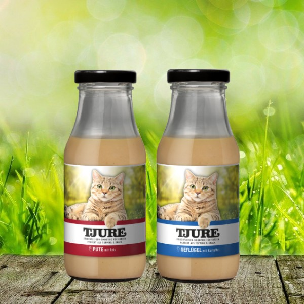 TJURE für Katze - Mixpaket Pute & Reis + Geflügel & Kartoffel