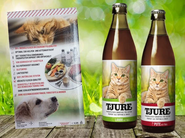 TJURE für Katze - Mixpaket Lamm & Reis + Pute & Reis
