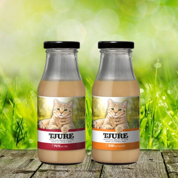 TJURE für Katze - Mixpaket Rind & Kartoffel + Pute & Reis