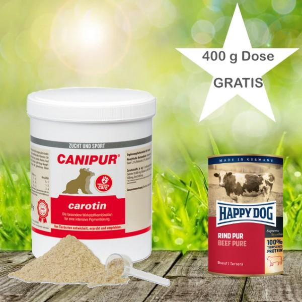 Canipur carotin 500 g + 400 g Happy Dog Pur Dose *Gratis*