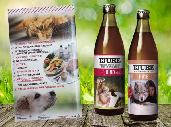 TJURE für Hunde - Mixpaket Pute & Reis + Rind & Kartoffel-Copy