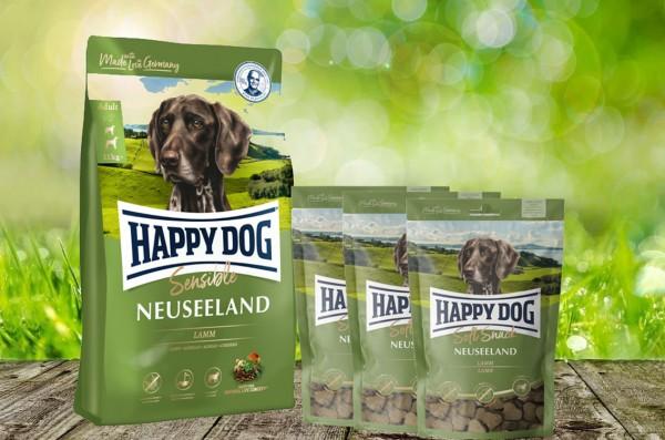 Happy Dog Supreme Neuseeland 12,5 kg + 3 x 100 g. Happy Dog Soft Snack Neuseeland geschenkt!