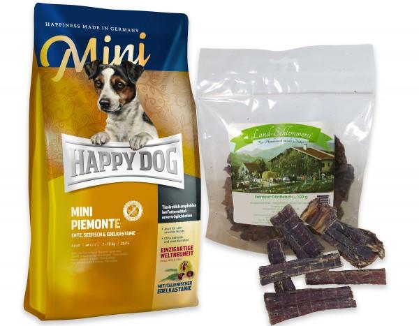 Feinkost Feines Dörrfleisch 100 gr. + Happy Dog Sens. Supreme MINI Piemonte 4 kg
