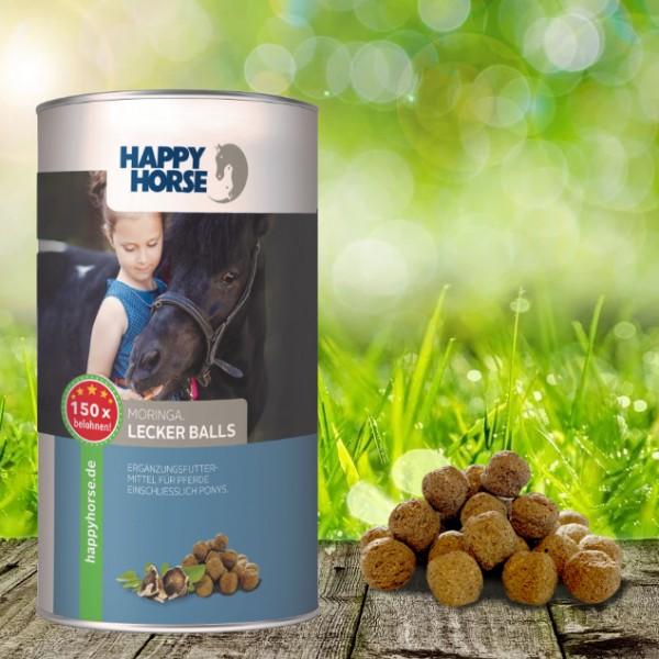 Happy Horse Lecker Balls Moringa 4 x 300 Gramm - für Pferde und Hunde