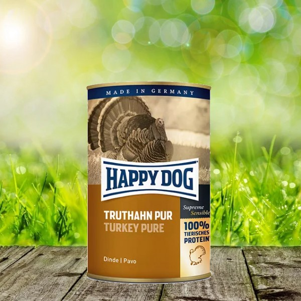 Happy Dog Dosen Truthahn Pur 12 x 400 Gramm