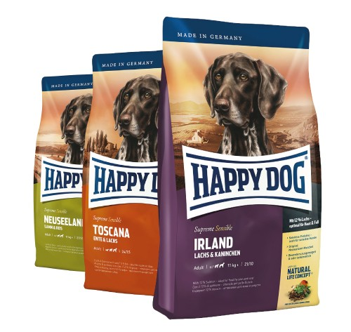 Happy Dog Supreme Serie 1 x 4 kg + 2 x 300 g