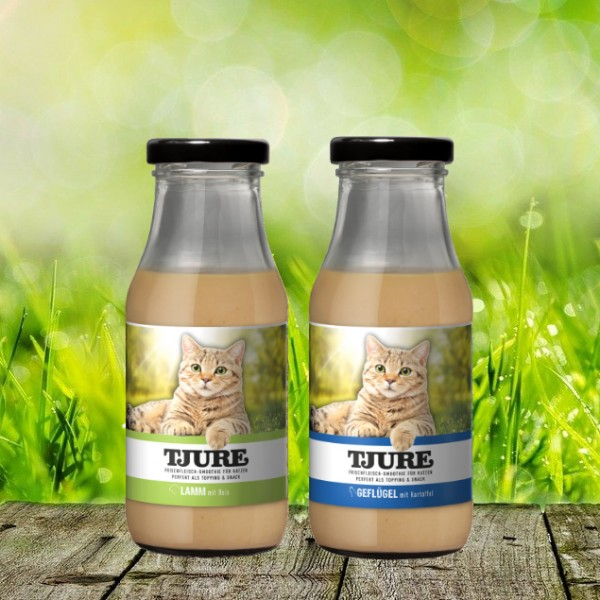 TJURE für Katze - Mixpaket Lamm & Reis + Geflügel & Kartoffel