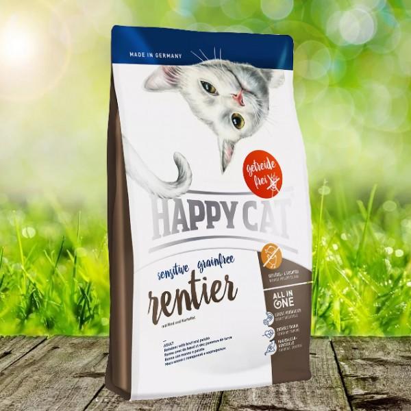Happy Cat Sensitive Grainfree Rentier 1,4 kg