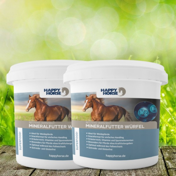 Happy Horse Superfood Mineralfutter Würfel 2 x 5 kg