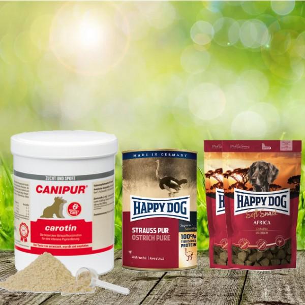 Canipur carotin 500 g + 2 HD Soft Snack Afrika + 1 HD Strauß pur 400 g