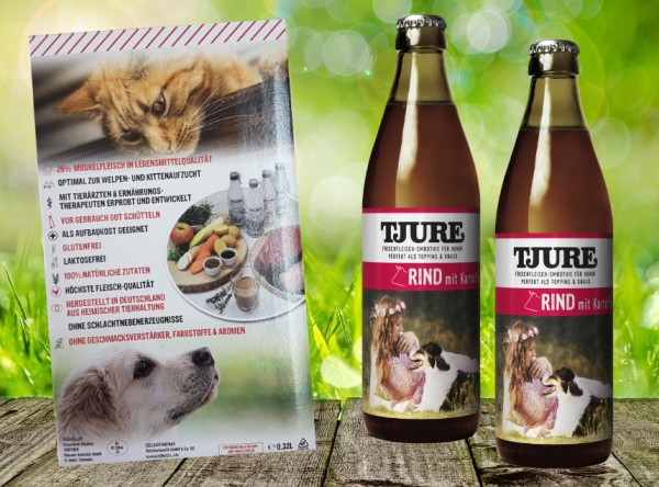 TJURE für Hunde - Doppelpack Rind & Kartoffel