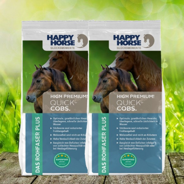 "Happy Horse Superfood ""Quick-Cobs"" - Heucobs - 2 x 14 kg"