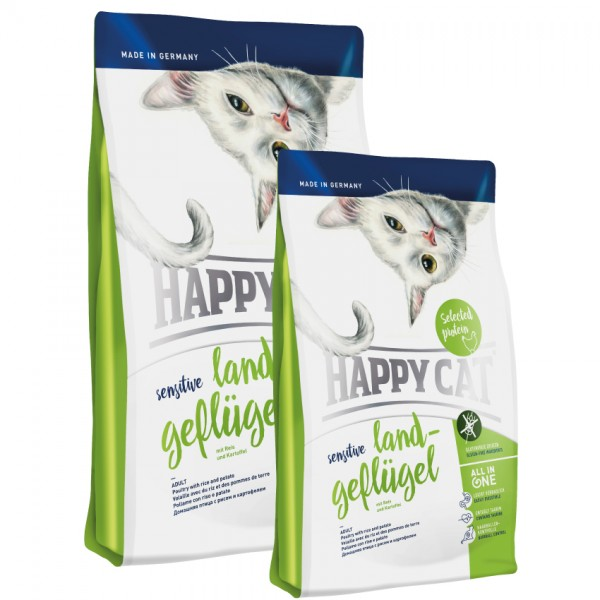 Happy Cat Sensitive Land Geflügel 3 x 4 Kg