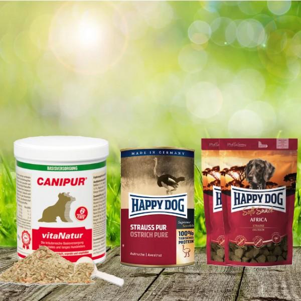 Canipur vitaNatur 500 g + 2 HD Soft Snack Afrika + 1 HD Strauß pur 400 g