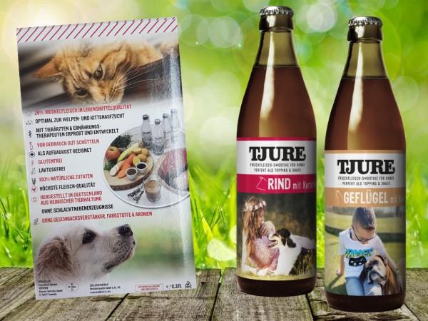 TJURE für Hunde - Mixpaket Rind & Kartoffel + Geflügel & Kartoffel