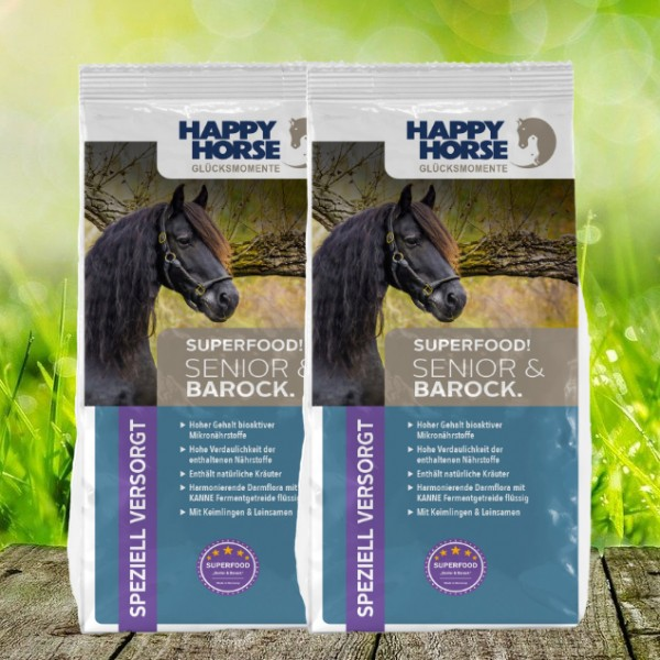 "Happy Horse Superfood ""Senior & Barock"" (Sensitive Plus) - 2 x 14 Kg"