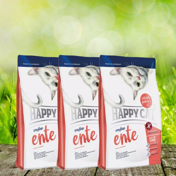 Happy Cat Sensitive Ente 3 x 4 kg