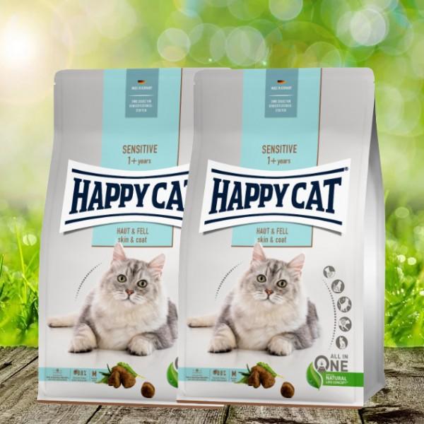 Happy Cat Sensitive Sensitive Haut & Fell 2 x 4 kg