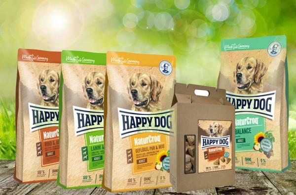 NaturCroq Hundefutter 4 x 4 kg sortiert + 5 kg Belohungssnack NC Pansen Ecken geschenkt