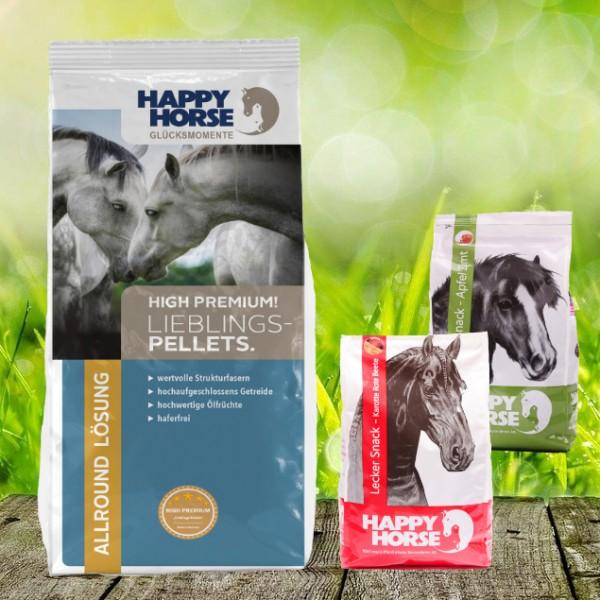 Happy Horse High Premium Lieblings Pellets 14 kg + 2 x 1 Kg Happy Horse Lecker Snack