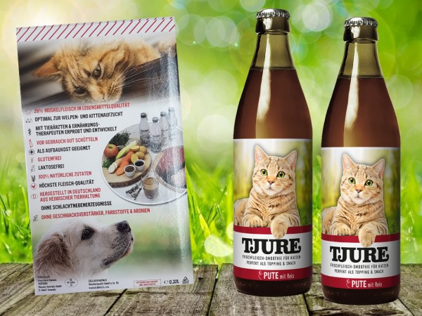 TJURE für Katze - Doppelpack Pute & Reis