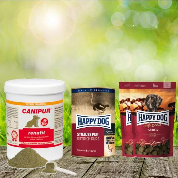 Canipur renafit 400 g + 2 HD Soft Snack Afrika + 1 HD Strauß pur 400 g
