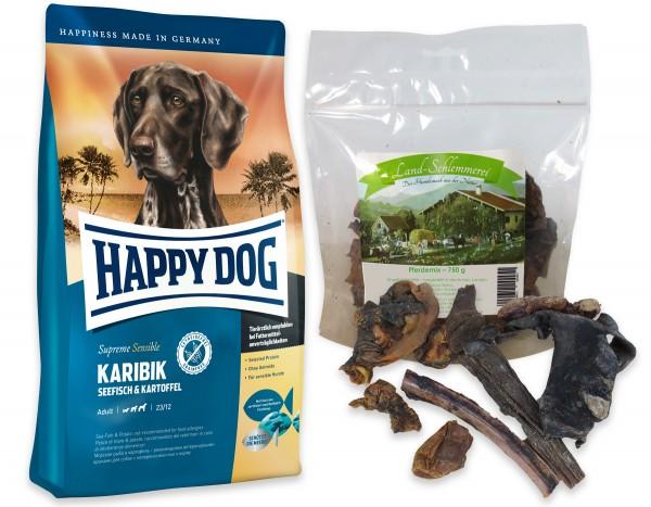 Pferde Mix 750 gr. + Happy Dog Sens. Supreme Karibik 2 x 12,5 kg