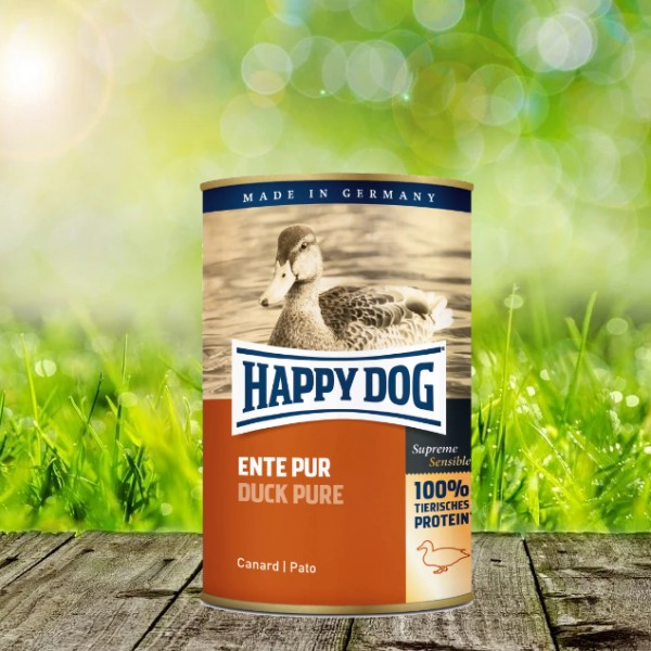 Happy Dog Dosen Ente Pur 12 x 400 Gramm