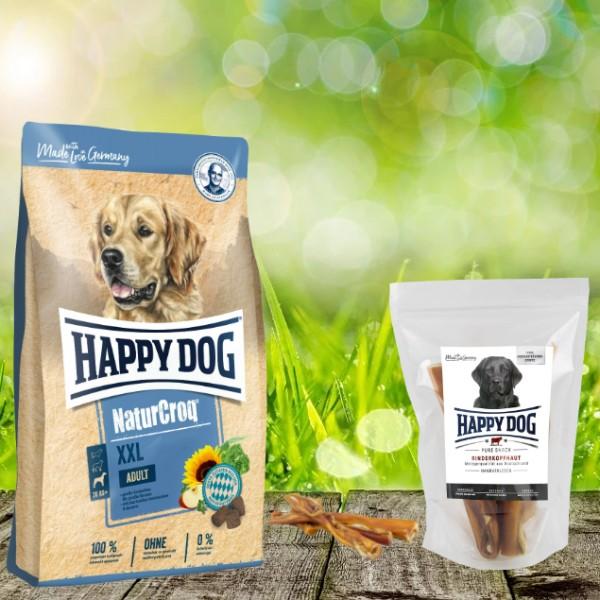 Happy Dog Premium NaturCroq XXL 15 kg + HD Rinderkopfhaut 500 g